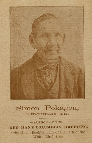 Photogrpah of Simon Pokagon