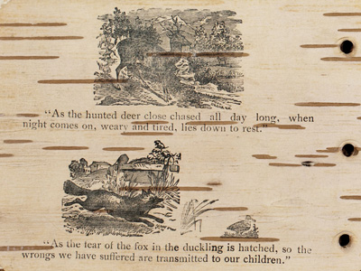 The Red Man's Greeting page showing illustrations